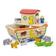 Noé bárkája formabedobós játék figura tartozékokkal 6636