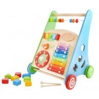 Járássegítő játék kocsi készségfejlesztő játékokkal és xilofonnal 4624