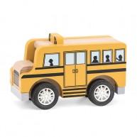 Játék iskolabusz gumi kerekekkel 6610