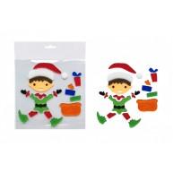 Zselés karácsonyi ablakdísz - karácsonyi manó 312639