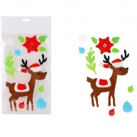 Karácsonyi zselés ablakdísz rénszarvas figurával