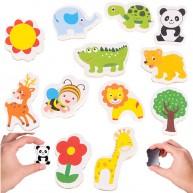 Hűtőmágnes gyerekeknek állatos figurákkal 12db-os