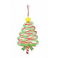 Csavart cukor karácsonyfa dísz 141848