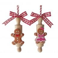 Mézi kislány vagy kisfiú pár sodrófán karácsonyfadísz 141857