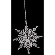 Csipke jégkristály karácsonyfadísz 671586