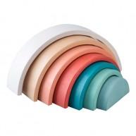 Szivárványos építőjáték pasztell színekbenkék középpel 6714-B