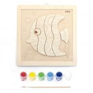 Kifesthető fa puzzle halacska 6632
