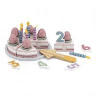 PolarB Szeletlehető játék szülinapi torta számokkal és díszekkel 6811