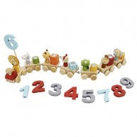 Viga szülinapi vonat figurákkal és számokkal 6711
