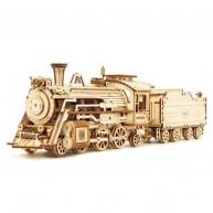 Rokr 3D modell gőzmozdony szénszállítóval 308db-os lézervágott modell MC501