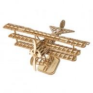 Rokr 3D modell Triplane 3 szárnyú lézervágott repülőgép 145db TG301