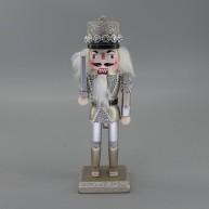 Diótörő katona karddal kalapban, arany-ezüst karácsonyi dekoráció 25 cm 729779