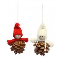 Tobozgyerek karácsonyi lógatható karácsonyfadísz