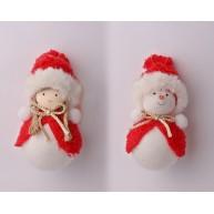 Hóember, vagy kislány mikulás ruhában- Karácsonyfa dísz 067044