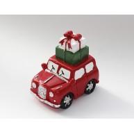 Kisautó csomagokkal a tetején - kerámia karácsonyi dekoráció 474322