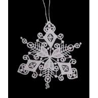 Csipke jégkristály karácsonyfadísz 8cm 671587