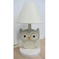 Éjjeli lámpa gyerekszobába Baglyos - szürke fehér