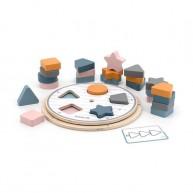 Szortírozós játék korong 5 fajta fromával és feladatlapokkal 6804
