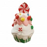 Polirezin clay muffin karácsonyfadísz cukorkás habos díszítéssel 141847