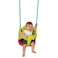 Smoby Bebe beülős baba hinta 2 in 1, zöld-piros  310194