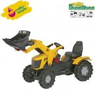 Rolly Toys gyerek játék pedálos traktor markolóval FarmTrac JCB 8250 611003