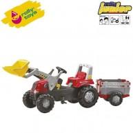 Rolly Toys gyerek játék traktor utánfutóval Junior 811397