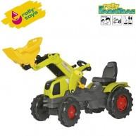 Rolly Toys gyerek traktor markolóval FarmTrac Claas Axos 340 611041