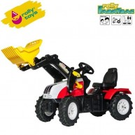 Rolly Toys pedálos traktor markolóval FarmTrac Steyr CVT 6230 - 046331