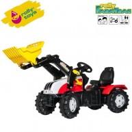 Rolly Toys játék pedálos traktor gyerekeknek markolóval FarmTrac Steyr CVT 6230 - 046317