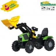 Rolly Toys gyerek pedálos traktor markoló lapáttal FarmTrac Deutz-Fahr 5120 611201