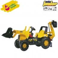 Rolly Toys gyerek pedálos traktor markolóval és lapáttal Junior JCB 812004