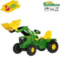 Rolly Toys pedálos gyerek traktor markoló lapáttal FarmTrac John Deere 6210R 611096