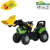 Rolly Toys gyerek pedálos traktor markolóval FarmTrac Deutz-Fahr Agrotron 7250 TTV - 710034