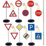 BIG forgalom jelző táblák, KRESZ táblák 6db 1198