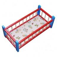 IMP-EX Nagy fa babaágy játékbabáknak - piros-kék  0278A