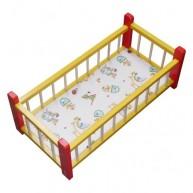 IMP-EX Nagy babaágy játékbabáknak piros-sárga  0278-B