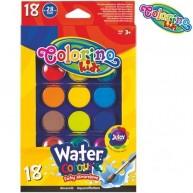 Colorino Kids vízfesték 18 színkorong, átmérő: 28 mm 54737