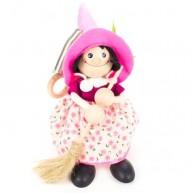 IMP-EX boszorkány rugós figura rózsaszín kalapban 3843-102