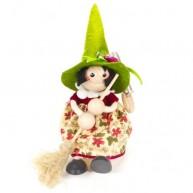 IMP-EX rugós boszorkány figura zöld kalapban 3843-104