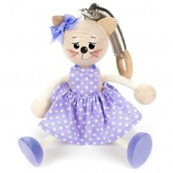 IMP-EX rugós cica lány figura lila ruhában 3843-92