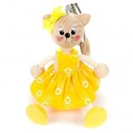 IMP-EX rugós cica lány sárga ruhában 3843-93