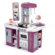 SMOBY játékkonyha 36 részes elektronikus kiegészítőkkel Studio Tefal XL lila-ezüst 311005