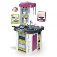SMOBY játékkonyha 29 részes Studio Tefal bugyborékoló fazékkal lila-fehér 311006