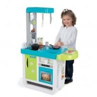 SMOBY elektromos játékkonyha gyerekeknek CHERRY 25 részes, hanggal, tálalópúlttal,  kávéfőzővel 310900