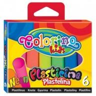 Colorino Kids gyurma 6db Neon színű 42666