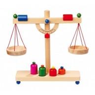 Legler fa játék mérleg súlyokkal 4592