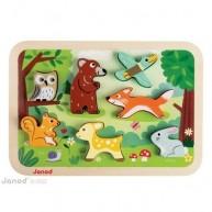 Janod 3D fa puzzle- erdő   7023