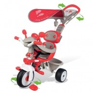 SMOBY bébi tricikli piros-szürke Baby Driver Confort 434208