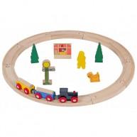 Fa vonat szett és vonatok fából