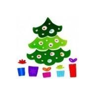 Karácsonyi ablakzselé díszek